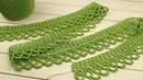 Простое ЛЕНТОЧНОЕ КРУЖЕВО крючком МАСТЕР-КЛАСС по вязанию КАЙМА Crochet Tape Lace Tutorial