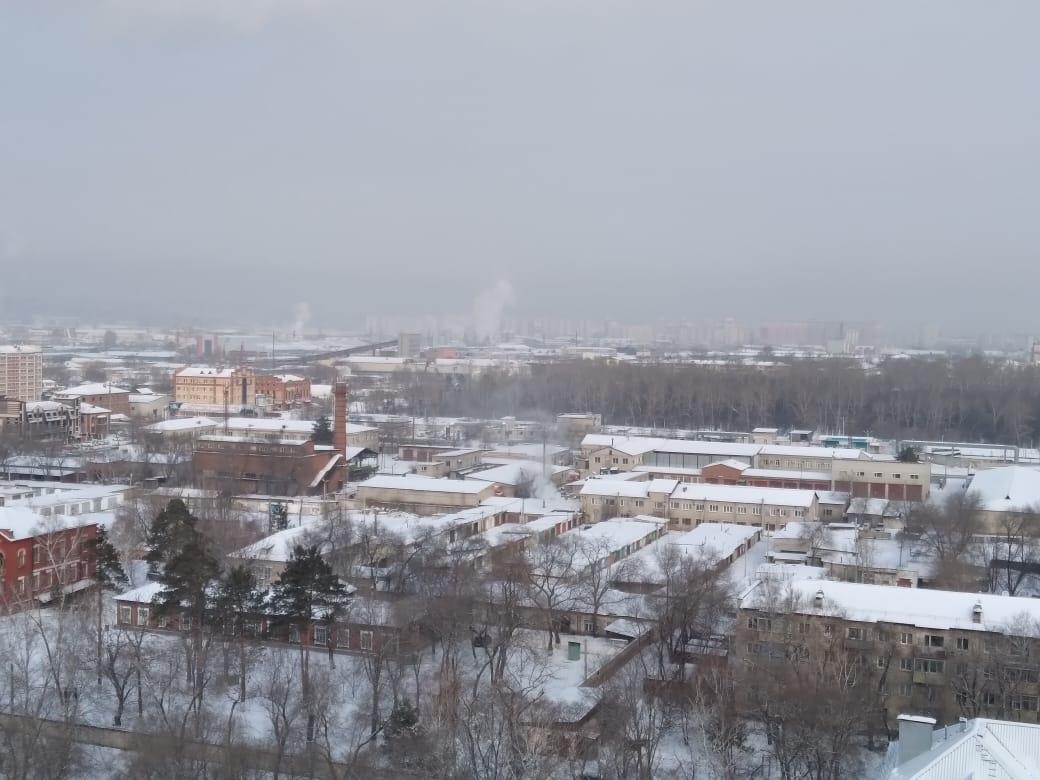 ТЭЦ и Благовещенск (с 15 этажа балкончика между этажами)