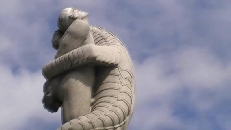 Reptilians in Vigelandsparken illuminati symbolism