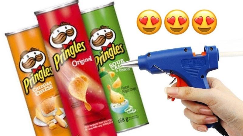 Manualidades reciclando BOTES Pringles ♥️