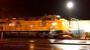 Union Pacific 7471 with train ZBRLC in driving rain through Salem, Oregon 11-22-2011