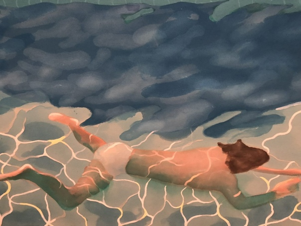 Портрет художника (бассейн с двумя фигурами),1972