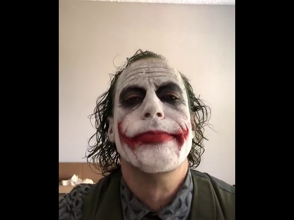 Dude imitating Heath Ledger's Joker