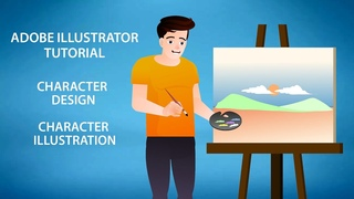 Adobe illustrator tutorial: How to create character designs/ character illustrations(Art tutor)