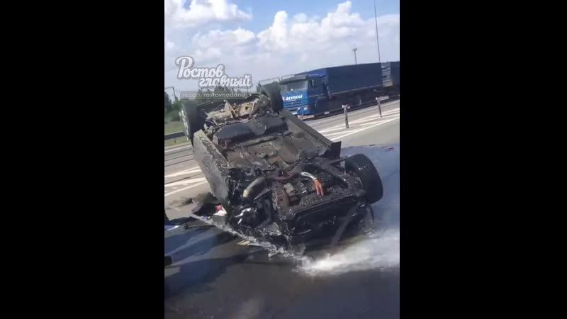 Авария с легковой на трассе Азов Ростов 12 7 2020 Ростов на Дону Главный