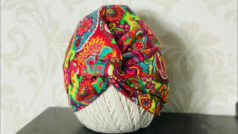 Touca turbante em tecido nova versão