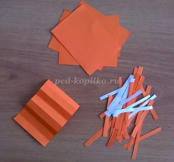 ОБЪЁМНАЯ АППЛИКАЦИЯ ИЗ БУМАГИ «БЕЛОЧКА» Необходимый материал: - картон формата А3 или белый лист формата А3, - белая писчая бумага, - лист копировальной бумаги; - цветная ксероксная бумага, -