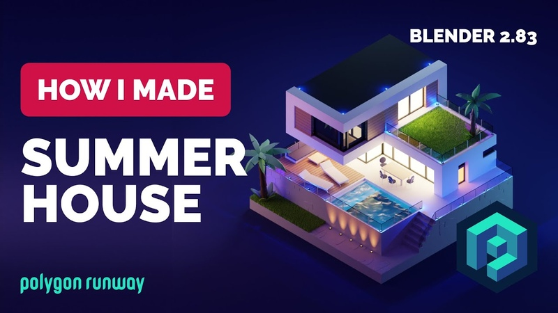 Summer House in Blender 2 83 Low Poly 3D Modeling Process