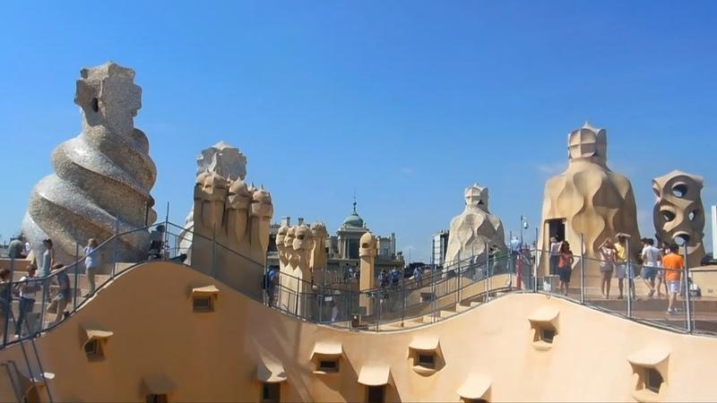 Шедевры Гауди. Дом Бальо, дом Мила, парк Гуэль. Барселона (Barcelona). Испания