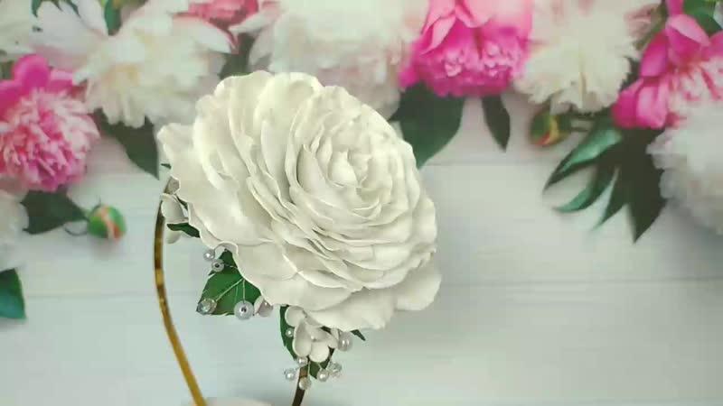 ободок Майская роза от Milana HandMade