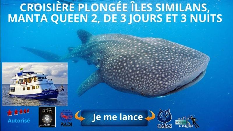 Croisière Plong e Scuba îles Similan Manta Queen 2 3 j n îles Koh Bon Koh Tachai Richelieu Rock