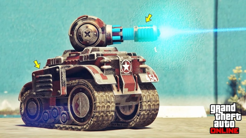 GTA 5 Online Invade and Persuade Tank Customization Test RC Tank