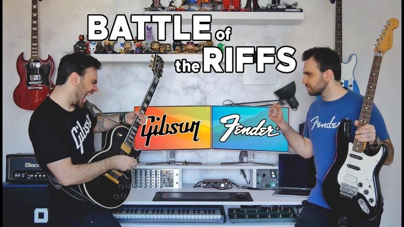 Battle Of The RIFFS LES PAUL vs STRATOCASTER