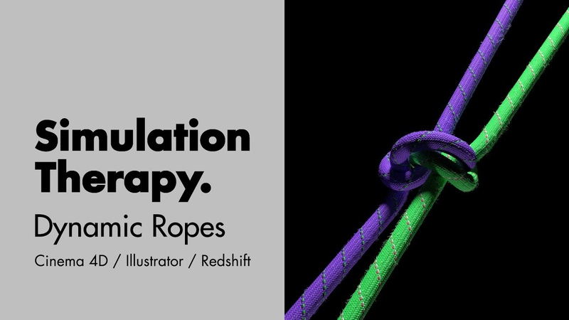 Dynamic Ropes pt.01 - How to create dynamic ropes in Cinema 4D using HoRope