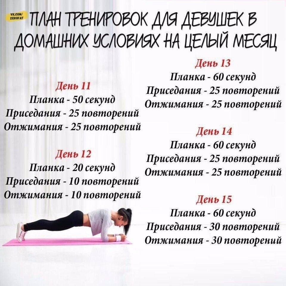График Тренировок На Похудение.