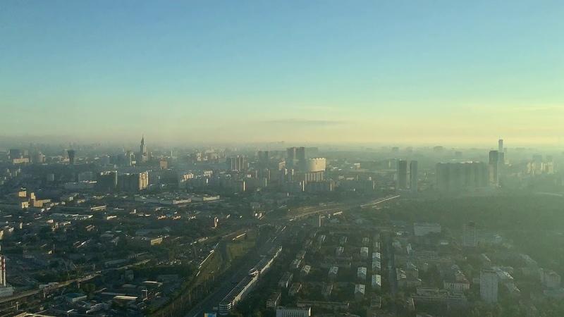Вид с 63 этажа башни Neva Towers🏙