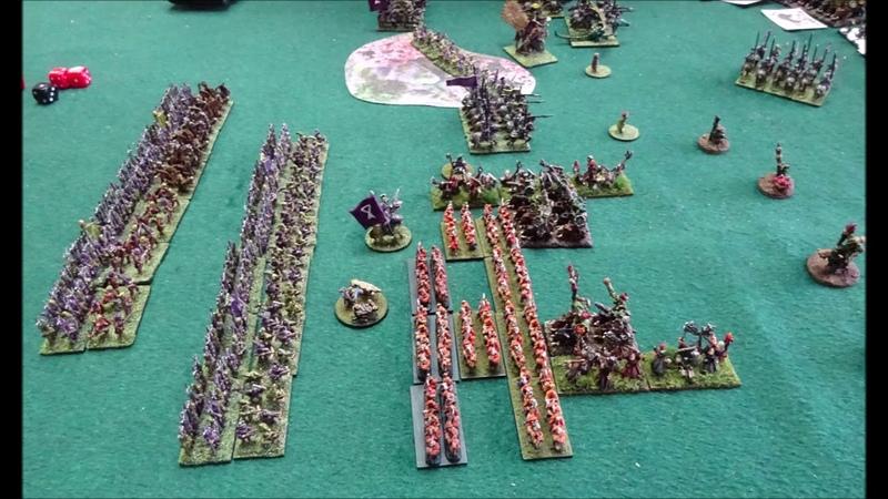 Warmaster Battle Report 3rd battle of Blackfire Pass
