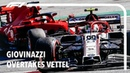 Антонио Джовинацци обгоняет Себастьяна Феттеля / Giovinazzi Overtakes Vettel   F1 2020 Austrian Gran Prix