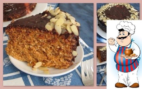 Вафельный торт со сгущенкой и шоколадом. Никакой мороки и выпечки! Ингредиенты: Масло сливочное - 250 гр. Черный шоколад - 100 гр. Сгущеное молоко (вареное) - 2 банки (760 гр) Сливки 20% - 50