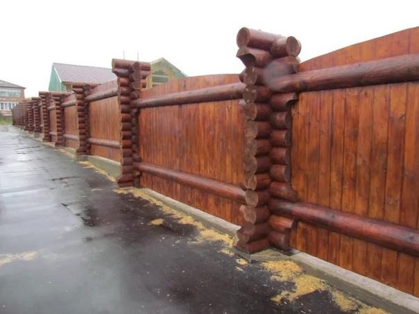 Красивый забор. Классная идея (источник: gofazenda)