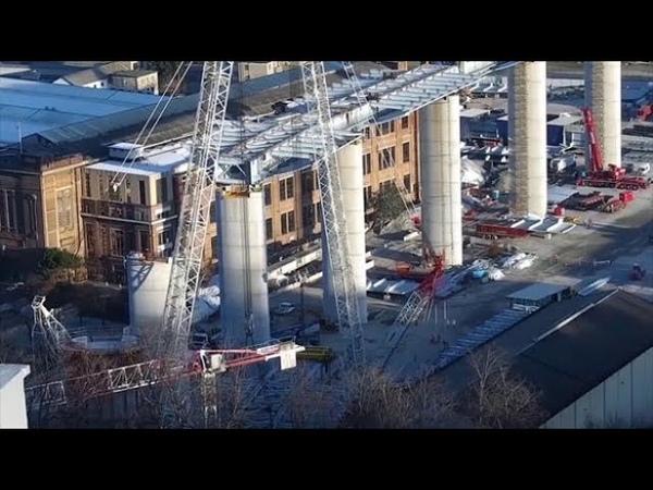 Genova la ricostruzione del ponte il timelapse in due minuti