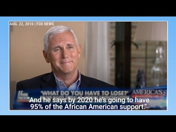 Watch Mike Pence laugh over Trumps claim that he will have 95 of the black vote in 2020