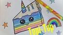 How draw cake cake unicorn TOPI TOP 3