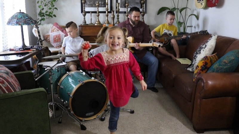 Family Band Rocks Out to The Beatles