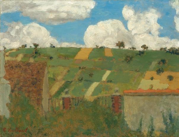 Edouard Vuillard (1868  1940), Пейзаж Иль-де-Франс, 1894