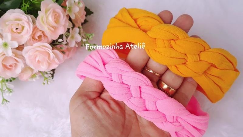 Turbante trançado na meia de seda Poly Formozo