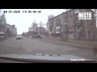 Погоня за Инфинити на Комсомольской. Место происшествия