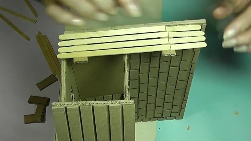 Клуб села Бирюки Занятия в кружке Умелые ручки Поделки из картона