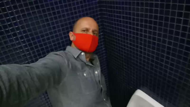 В туалете ТРЦ АкваМолл