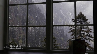 Rain On Window with Thunder SoundsㅣHeavy Rain for Sleep, Study and Relaxation