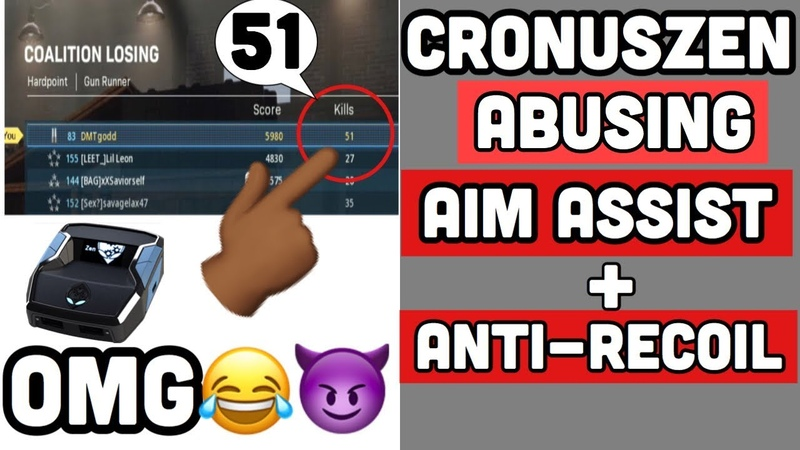 ABUSING AIM ASSIST AND ANTI-RECOIL WITH CRONUSZEN ( GODMODE )