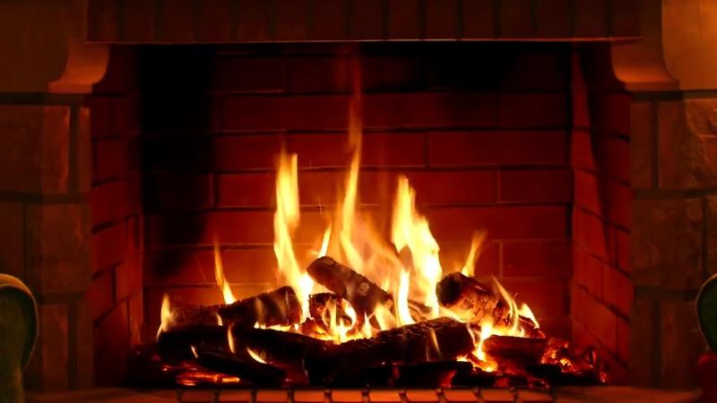 Релакс видео для медитации Звук костра и горящего огня в камине