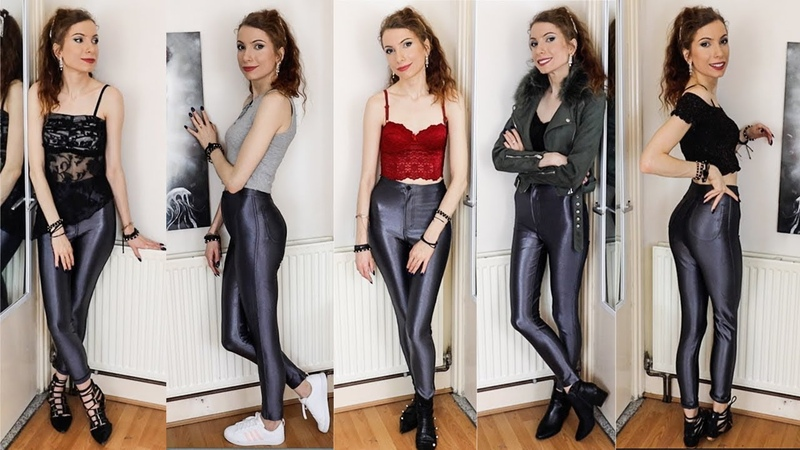 How I Style American Apparel Disco Pants in Charcoal Gray | Lookbook
