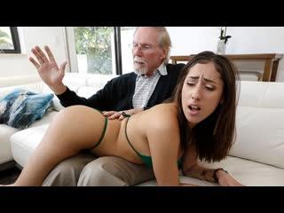 Kira Perez - Kira Gets Pounded By Grandpa (Blowjob, Brunette, Hardcore, Cumshot, Amateur, Latina, Teen)