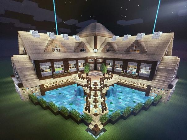 майнкрафт самые красивые дома #8