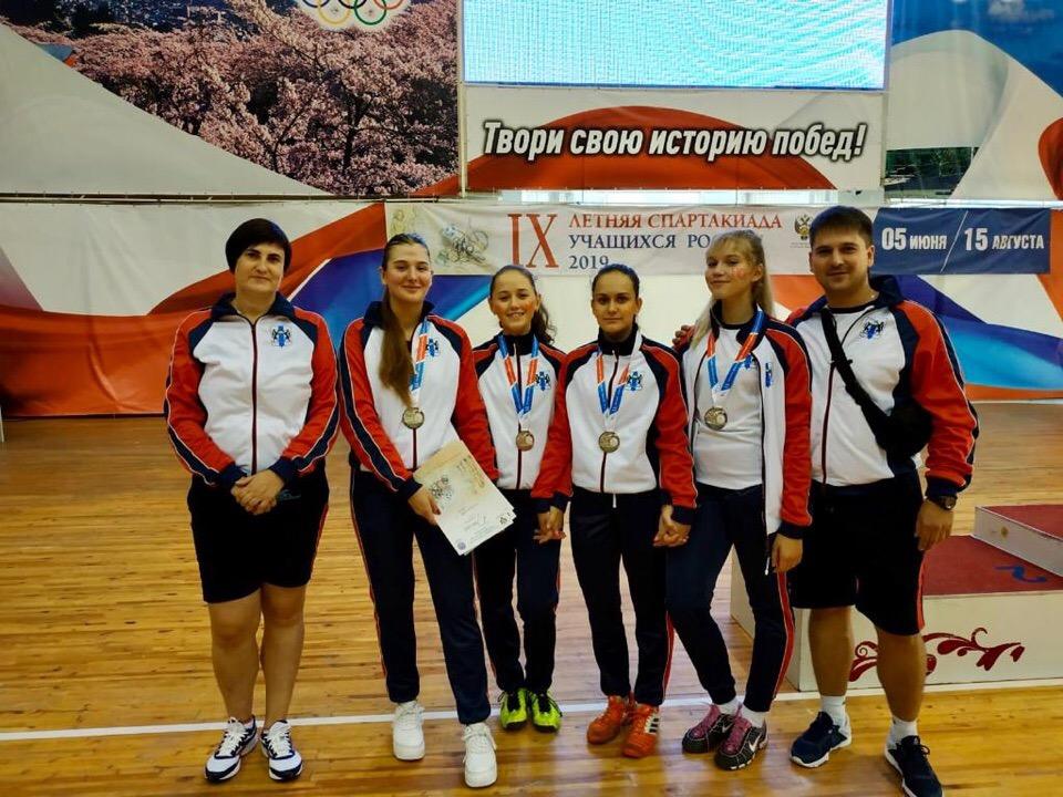 Серебро в командных соревнованиях на летней Спартакиаде учащихся России 2019 года.