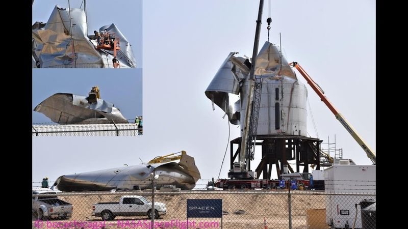 SpaceX Boca Chica Starship SN3 remains dismantled