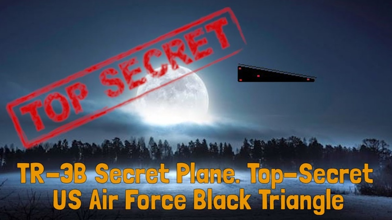 TR 3B Secret Plane Top Secret US Air Force Black Triangle