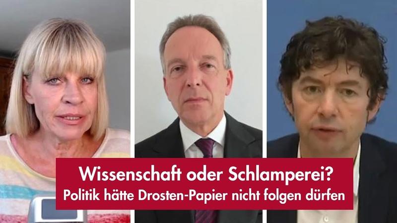 Politik hätte Drosten Papier nicht folgen dürfen mit Prof Homburg