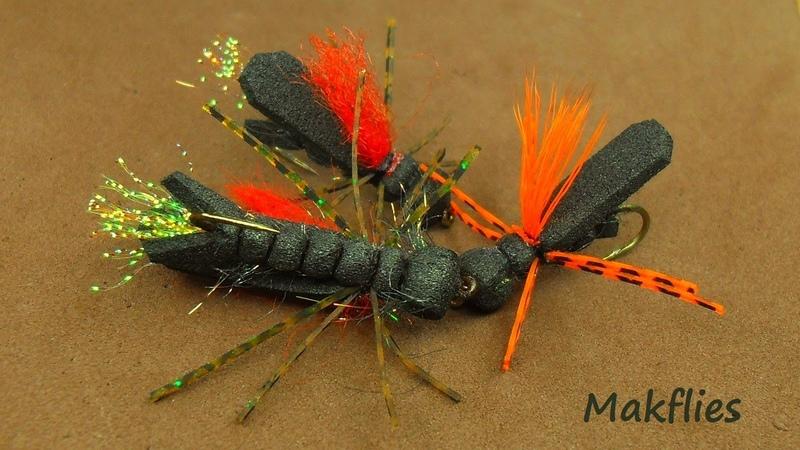 Fly Tying a Chernobyl Ant Variation by Mak 🔥🔥