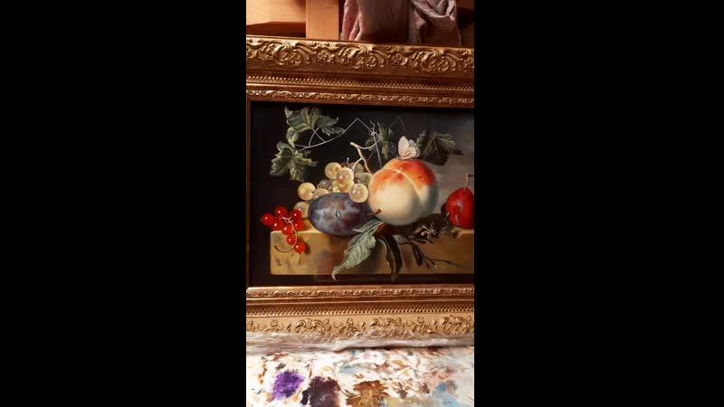 Натюрморт с персиком Яна Ван Хейсума (копия)