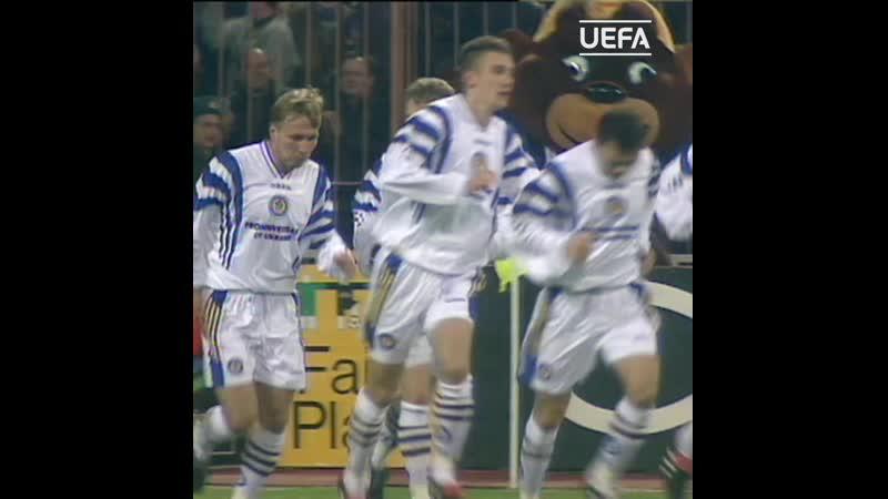 Ребров забивает Барселоне в Киеве 1997