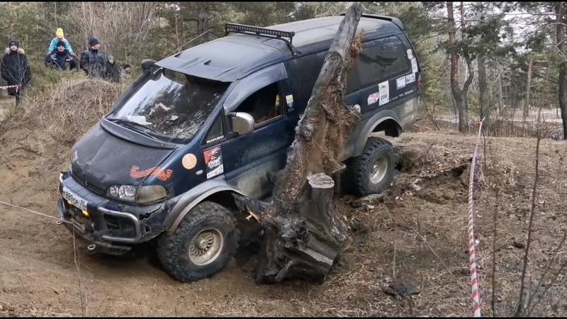 Жесткая Delica против Jeep Wrangler ГАЗ 69 Suzuki Escudo Nissan Safari! Категория Medium