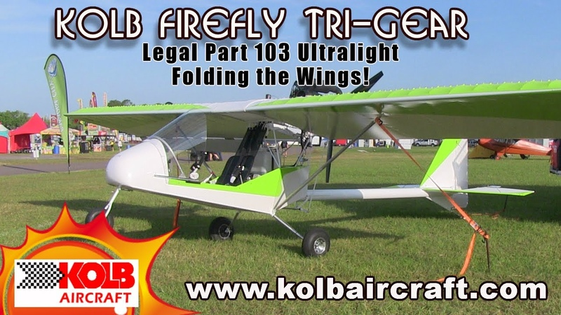 Kolb Aircraft Kolb Firefly wing and tail folding for trailering and storage