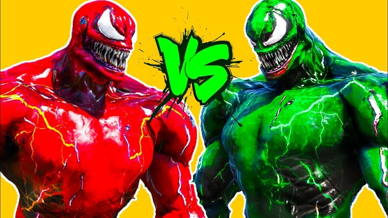 Venom Green vs Carnage Epic Battle DETEE Cinematic