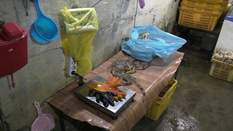 Незаконно добытый краб в гараже, Приморье